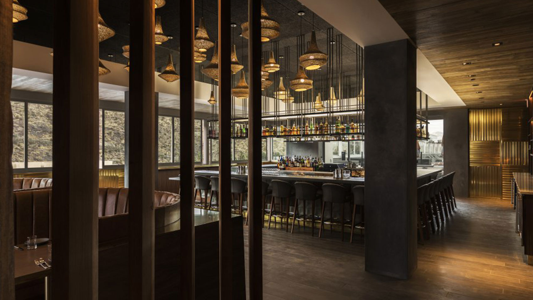 Palm springs restaurants bars kimpton rowan hotel 4 saints bar and dining room during the day dzzzfo