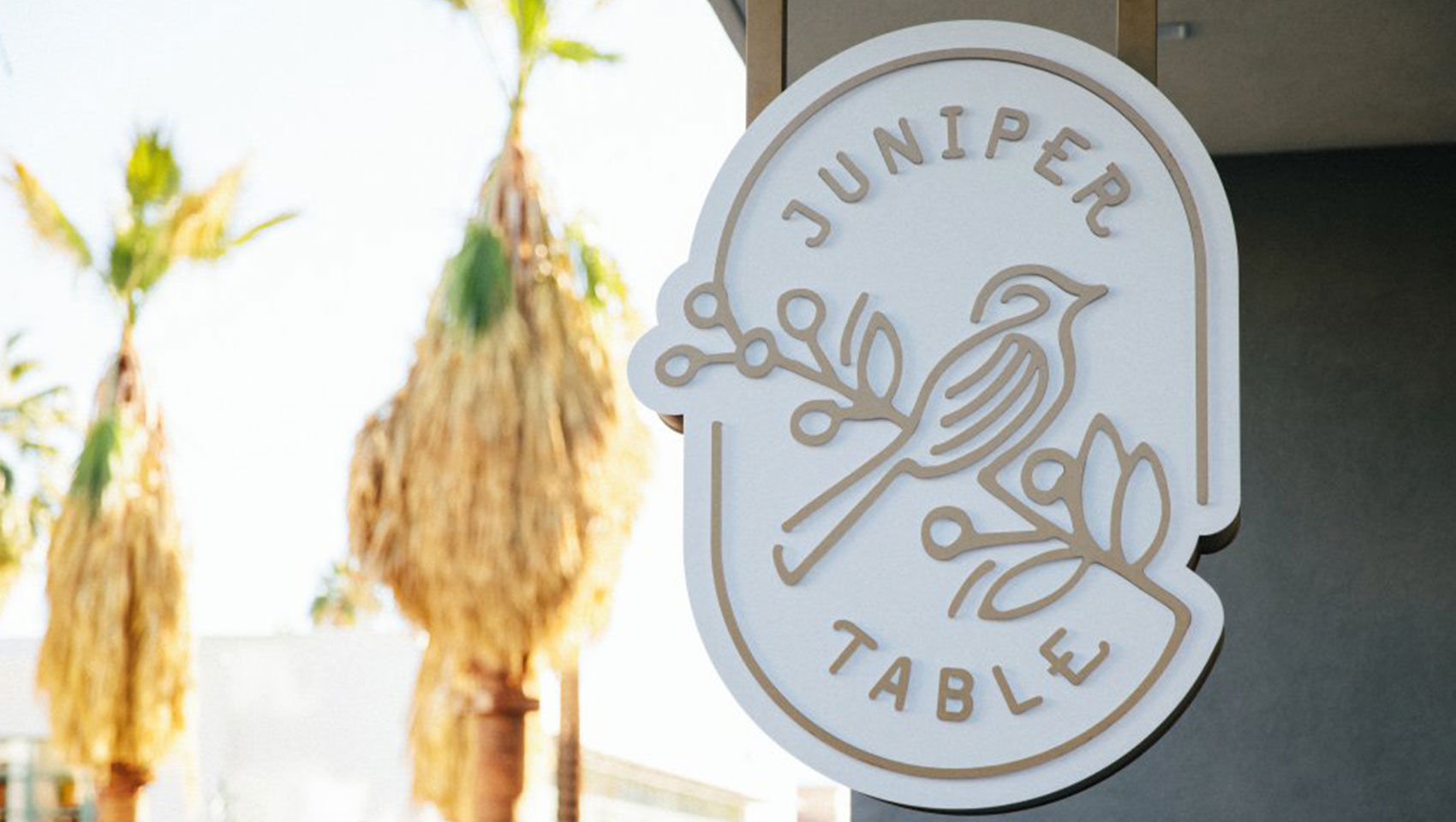 Juniper Table sign