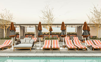 Rowan pool chairs and cabanas